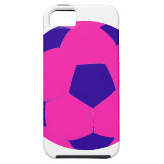 Pink and Blue Soccer Ball iPhone 5 Cover