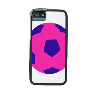 Pink and Blue Soccer Ball Cover For iPhone 5