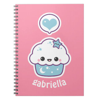 Pink and Blue Space Cupcake Notebook