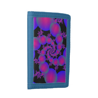 Pink and Blue Spiral Bubbles Wallet