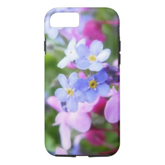 Pink And Blue Spring Flowers iPhone 7 Case