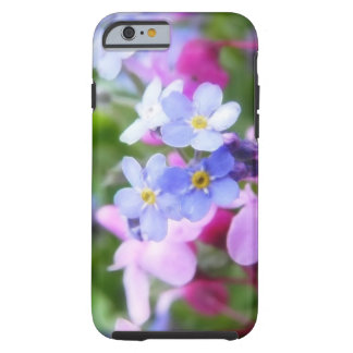 Pink And Blue Spring Flowers Tough iPhone 6 Case
