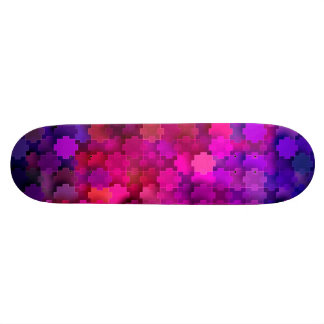 Pink and Blue Square Puzzle Pieces Pattern 19.7 Cm Skateboard Deck