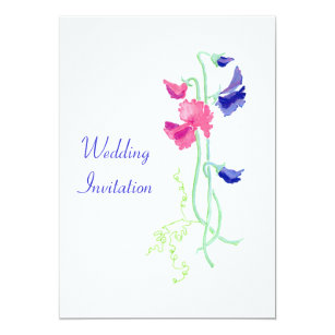 Pea Wedding Invitations | Sweet Pea Wedding Invitations Zazzle Co Uk