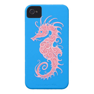 Pink and Blue Tribal Seahorse Case-Mate iPhone 4 Case