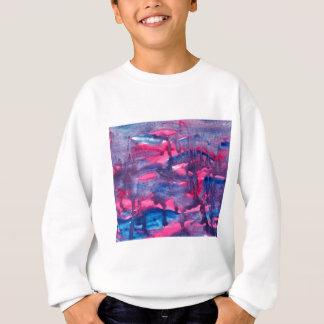 Pink and Blue Watercolour Design Sweatshirt