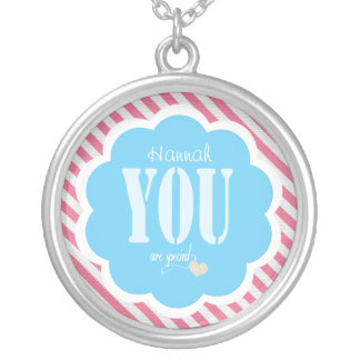 Pink and Blue You Are Special Necklace | Heart