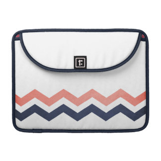 Pink and Blue Zig Zag Pattern Sleeve For MacBook Pro