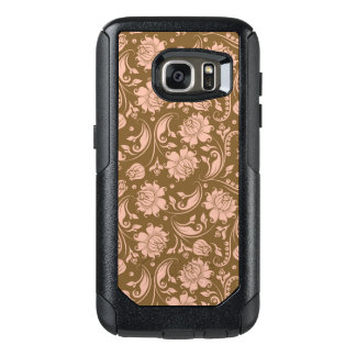 Pink and Brown Floral Pattern OtterBox Samsung Galaxy S7 Case