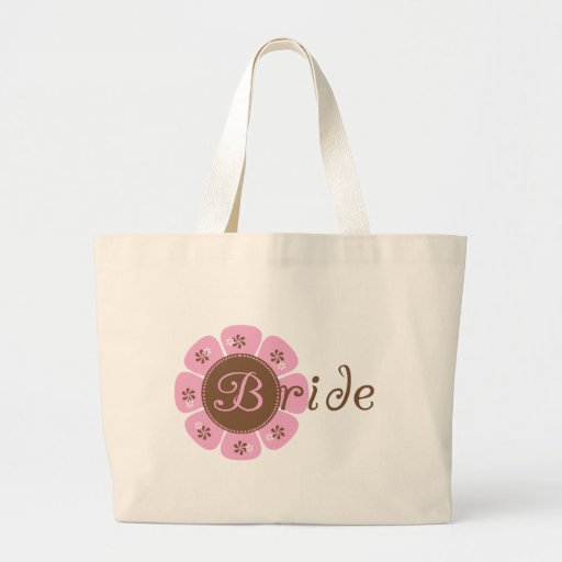 Pink and Brown Flower Bride Tshirts and Gifts Canvas Bag