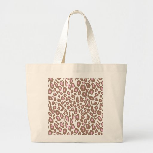 Pink and Brown Leopard Print Bag