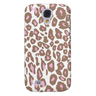 Pink and Brown Leopard Print Galaxy S4 Case