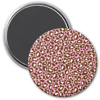 Pink and Brown Leopard Spotted Animal Print Fridge Magnets