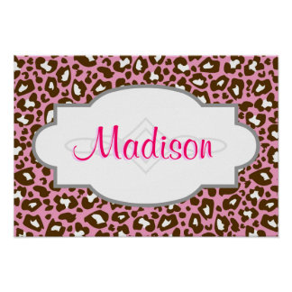 Pink and Brown Leopard Spotted Animal Print