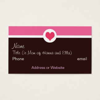 Pink and Brown Mommy Card