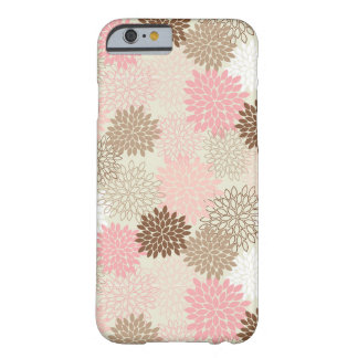 Pink And Brown Mum Pattern Barely There iPhone 6 Case