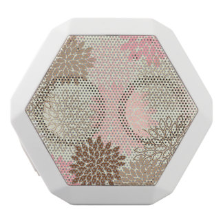 Pink And Brown Mum Pattern White Boombot Rex Bluetooth Speaker