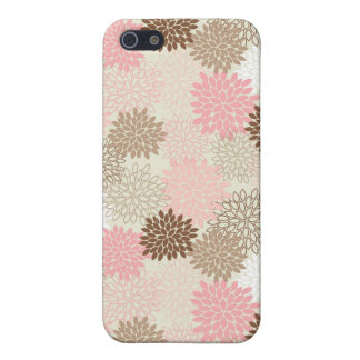 Pink And Brown Mum Pattern Cover For iPhone 5/5S