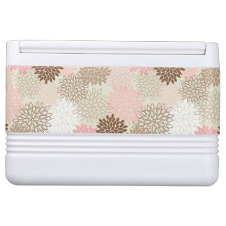 Pink And Brown Mum Pattern Igloo Cool Box