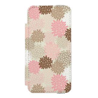 Pink And Brown Mum Pattern Incipio Watson™ iPhone 5 Wallet Case