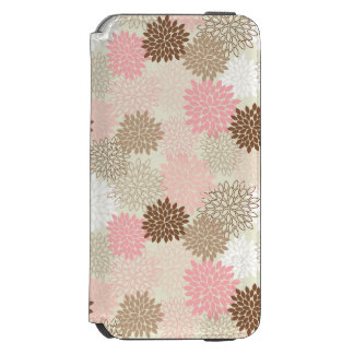 Pink And Brown Mum Pattern Incipio Watson™ iPhone 6 Wallet Case