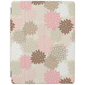 Pink And Brown Mum Pattern iPad Cover