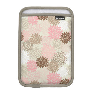 Pink And Brown Mum Pattern iPad Mini Sleeves