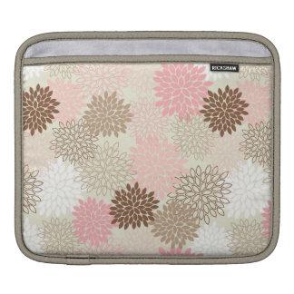 Pink And Brown Mum Pattern iPad Sleeve