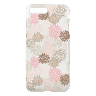 Pink And Brown Mum Pattern iPhone 8 Plus/7 Plus Case