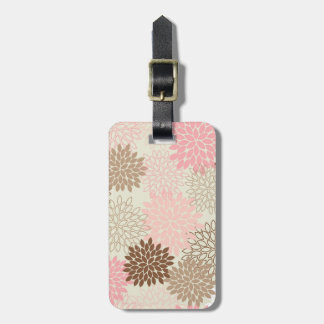Pink And Brown Mum Pattern Luggage Tag