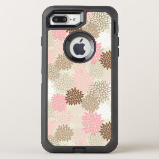 Pink And Brown Mum Pattern OtterBox Defender iPhone 7 Plus Case