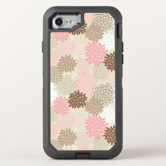 Pink And Brown Mum Pattern OtterBox Defender iPhone 8/7 Case