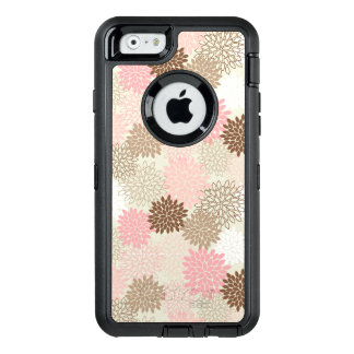 Pink And Brown Mum Pattern OtterBox Defender iPhone Case