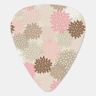 Pink And Brown Mum Pattern Plectrum