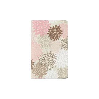 Pink And Brown Mum Pattern Pocket Moleskine Notebook