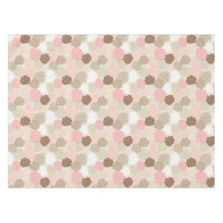 Pink And Brown Mum Pattern Tablecloth