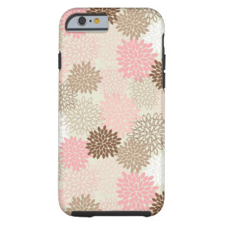 Pink And Brown Mum Pattern Tough iPhone 6 Case