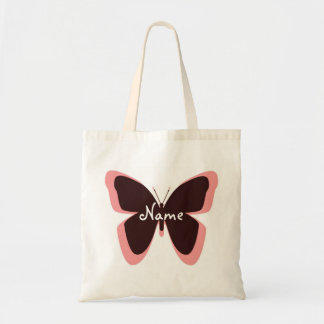 Pink and Brown Personalized Butterfly Bag