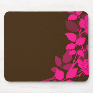 Pink and Brown Roses Mousepad