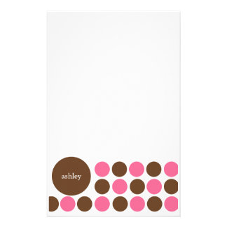 Pink and Brown Stationery