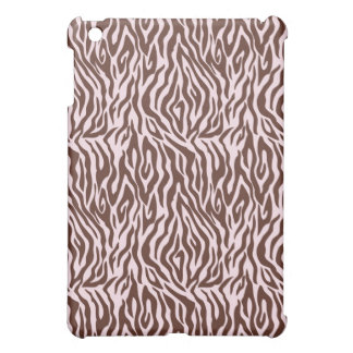 Pink and Brown Zebra Print iPad Mini Case