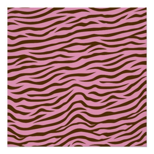 Pink and Brown Zebra Stripes Animal Print
