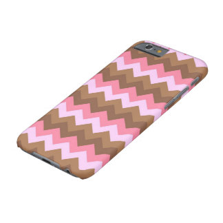 Pink and Brown ZigZag Pattern Barely There iPhone 6 Case