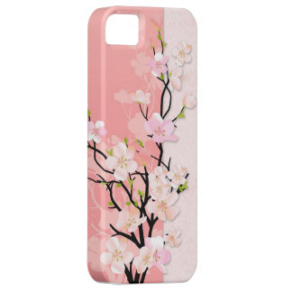 Pink and Coral Blossom Branch Barely There iPhone 5 Case