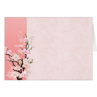 Pink and Coral Blossoms Greeting Card