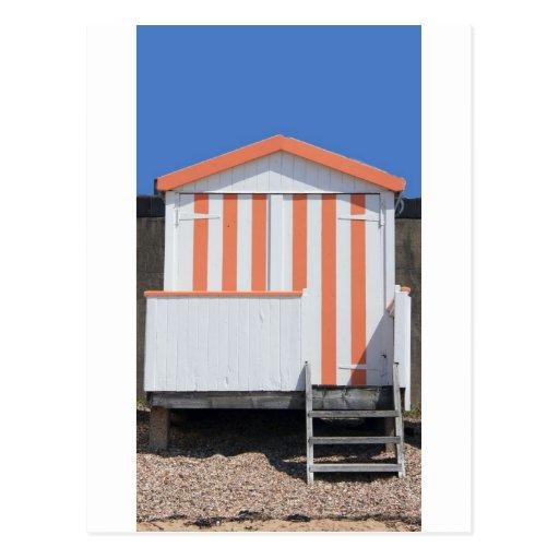 Pink and Cream Beach Hut Postcards