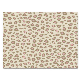 Pink and Cream Leopard Print Tissue Paper