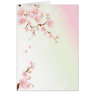 Pink And Cream Magnolia Blossom Bridal Show Invite Note Card