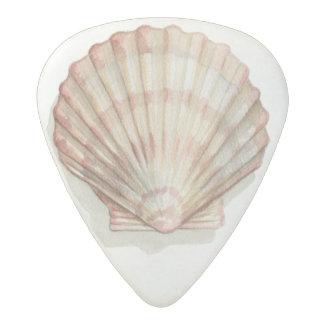 Pink and Cream Seashell Acetal Guitar Pick