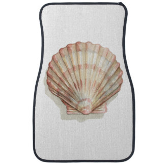 Pink and Cream Seashell Floor Mat